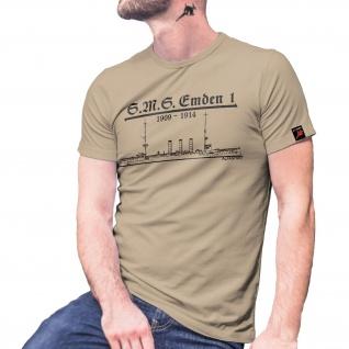 SM Emden 1 Preußen kaiserliche Marine Kriegsschiff Schiff - T Shirt #6539