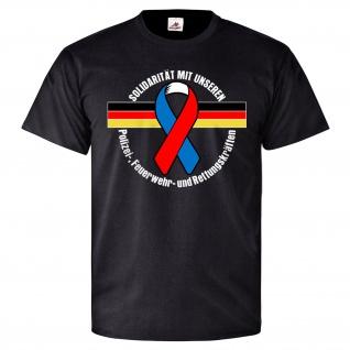 Schutzschleife Solidarität mit unseren Kräften Helden Helfer - T Shirt #25707