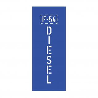 Lackierschablonenaufkleber F-54 DIESEL Sprit Kanister Jerr Can 14, 5x3, 5cm A3257