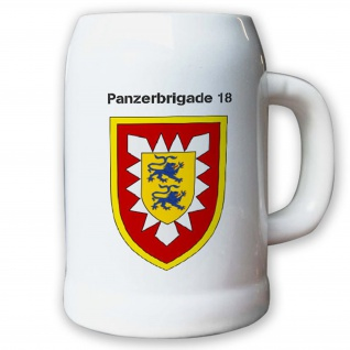 Krug / Bierkrug 0, 5l -14.Bierkrug Panzerbrigade 18 PzBrig Brigade Einheit #12978