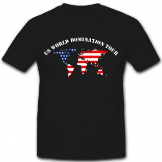USA Amerika America United States World Domination Tour World Map T Shirt #9129