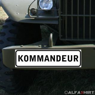 Magnetschild Kommandeur Bataillon Chef Offizier BW Bundeswehr Fahrzeug #A344