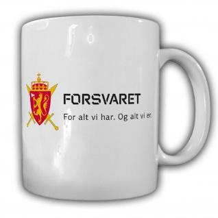 Norge forsvar Norwegische Streitkräfte Norwegen Militär Armee Heer Tasse #15649
