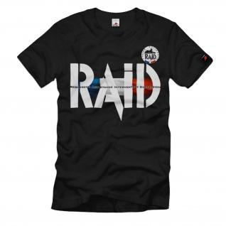 RAID Police Natiobnale Frankreich Police Anti Terror T-Shirt #35662
