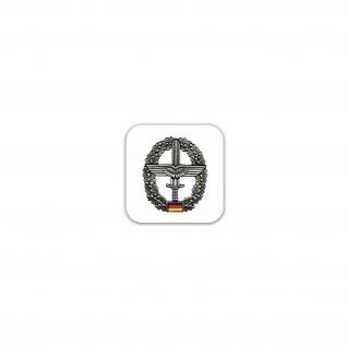 Aufkleber/Sticker Barettabzeichen Heeresflieger Fliegerschwinge 7x7cm A2450