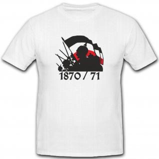 Deutschland Frankreich Krieg Preußen 1870 1971 Schlacht- T Shirt #4424