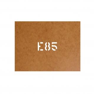 E85 Schablone Bundeswehr Ölkarton Lackierschablone 2, 5x6cm #15106