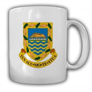 Tasse Tuvalu Wappen Emblem Kaffee Becher #13959