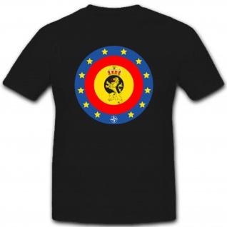 Streitkräfte Europa Einheit Belgien Heer Marine Luftwaffe 1°Bn T Shirt #2583