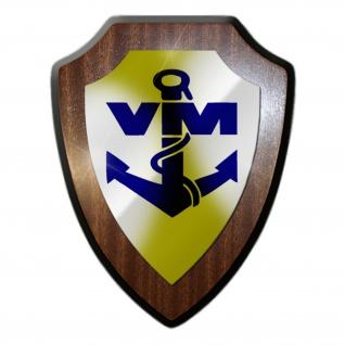 Volksmarine VM Seestreitkräfte DDR NVA Marine Militär Emblem Wappenschild #19773
