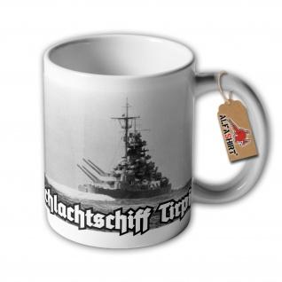 Tasse Schlachtschiff Tirpitz Marine Bismarck Klasse Wilhelmshaven 128 #32876