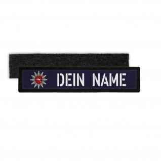 Patch Namens-Schild Polizei Niedersachsen Klett Streifen personalisiert #36111