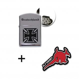 Deutschland Benzin Sturmfeuerzeug EK Bundeswehr Altdeutsch Armee #17289