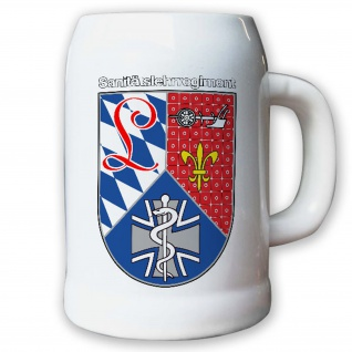 Krug / Bierkrug 0, 5l Sanitätslehrregiment SanLehrReg Bundeswehr Deutschland#9086