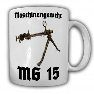 MG 15 Maschinengewehr Luftwaffe Flugzeug Deko Waffe Doppeltrommel - Tasse #25674