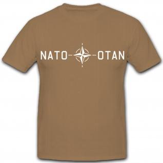 Nato Otan Wappen Logo Zeichen Emblem Nato-Bund - T Shirt Herren khaki #1561