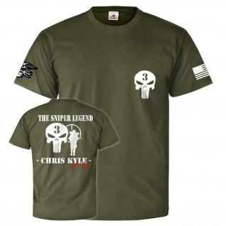 Sniper Legende Seal Team Three Kampfshirt Infidel T Shirt #26172