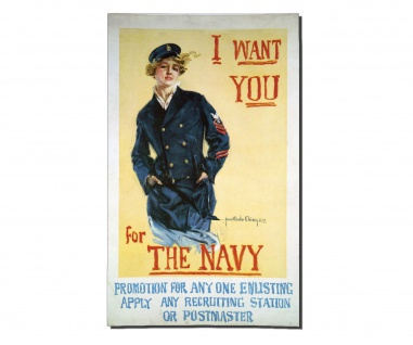 Poster I want you for the Navy Propaganda Plakat Amerika Army ab 30x19cm #30948