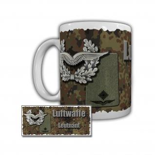 Luftwaffe Leutnant Rangabzeichen Lt Dienstgrad OF 1 Schulterklappe Tasse #29213