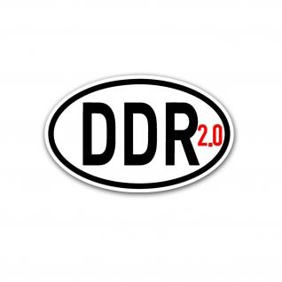 Aufkleber/Sticker 2.0 Deutsche Demokratische Republik Ost Deutschland Auto A5382