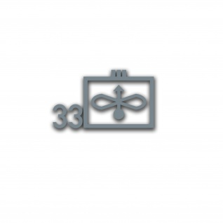 Aufkleber/Sticker Taktisches Zeichen JaboG 33 ZDv 1-11 Militär 26x15cm A5077