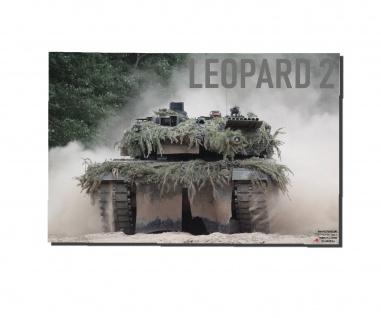 Poster M&N Pictures Leopard 2 Front Plakat Bundeswehr Panzer 2A6 ab30X20cm#30253