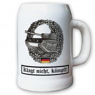 Krug / Bierkrug 0, 5l -Barettabezeichen Panzertruppe Andenken Souvenier #10925