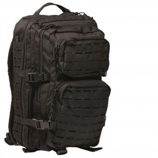 Rucksack US Assault Pack Laser 36l schwarz Tactical Kommando Ausrüstung #16069