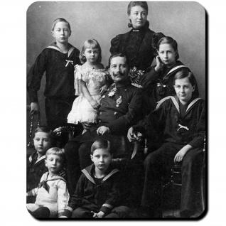 Wilhelm II Kaiser Familie Preußen Deutschland 1896 Fotografie Mauspad #16391