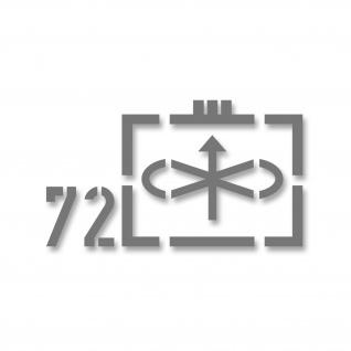 Taktische Zeichen 72 Jagdgeschwader Luftwaffe Bundeswehr fehgrau 25x14cm #A4581