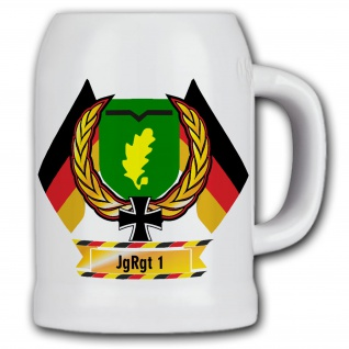 Bierkrug Jägerregiment 1 BW DZE Andenken Geschenk Bundeswehr JgRgt Inf #11859