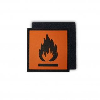 Tactical Hochentzündlich Feuer Gefahr Brand Symbol 3D Rubber Patch 4x4cm #16278