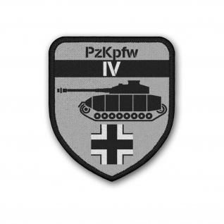 Patch PzKpfw IV Panzer 4 Aufnäher Balkenkreuz Klett PzDiv#37159
