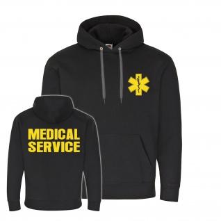 MEDICAL SERVICE Notarzt Ersthelfer Rettungsdienst Kapuzenpullover Hoodie #26239