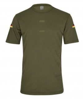 Olives BW Tropen Shirt Bundeswehr Klett Unterhemd Deutschland Flagge #20605