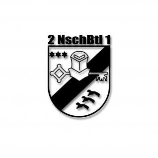 2 Nachschub Bataillon 1 NschBtl Sticker Wappen Abzeichen Bundeswehr 10x8cm#A4284