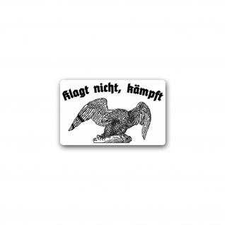 Aufkleber/Sticker Klagt nicht kämpft Adler Deutschland Militär 11x7cm A1797