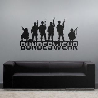 Bundeswehr Soldaten Team Einheit Zug Armee Wandtattoo 45x25cm #3803