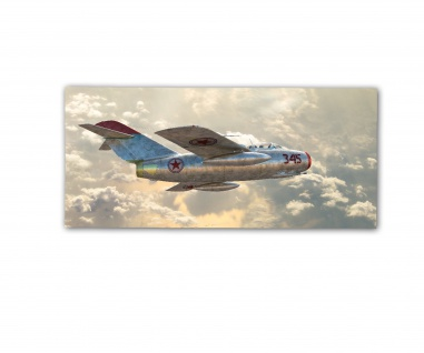 Poster rOEN911 MiG 15 345 KPAAF Jagdflugzeug Kim ab30x14cm#30713
