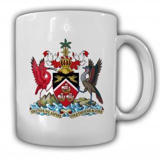 Tasse Trinidad und Tobago Wappen Emblem Kaffee Becher #13947