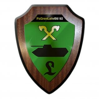 Wappenschild/Wandschild PzGrenLehrBtl 92 Panzergrenadierlehrbataillon #15777