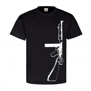Thompson mit Daten Us Army Amerika Tommy Gun Maschinenpistole T-Shirt #17862