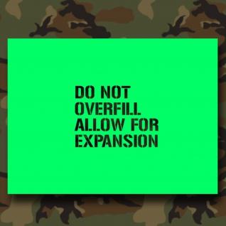 Lackierschablonen Aufkleber Do not overfill Us Army Benzin Kraft 10x7, 3cm A459