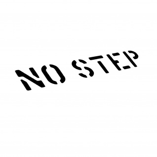 No Step Stencil Aufkleber Bundeswehr Militär 5x28cm#A5124