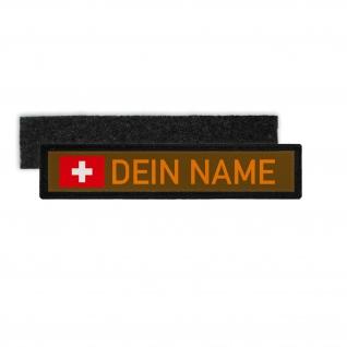 NamensPatch Schweiz Klett Streifen Schweiz Fahne Einsatz personalisierbar #35900