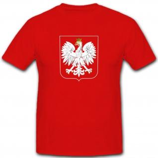 Polen Adler Wappen Abzeichen Polska Emblem - T Shirt #2936