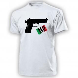 M9 Pistole Italien Amerika USA Kaliber 9mm Schusswaffe Waffe - T Shirt #14385