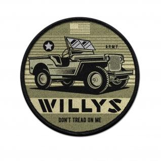 9cm Patch Willys MB 1-4 -ton 4×4 truck WW2 Amerika Aufnäher #37152