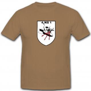 4./KG1 4.Staffel Kampfgeschwader 1 Luftwaffe WK 2 WW Wh Wappen - T Shirt #4619