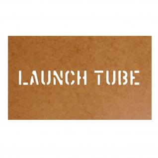 Launch Tube Schablone Bundeswehr Ölkarton Lackierschablone 2, 5x21cm #15169
